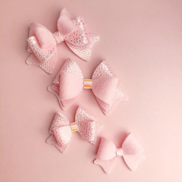 Dreamy Bow Cut and Trace Template - Plastic Hairbow Templates