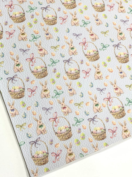 Bunnies and Bows Faux Leatherette