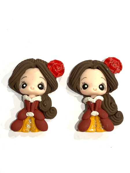 Winter Princess Belle Bow Clay Centre