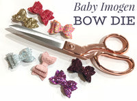 "PRE ORDER Baby Imogen 1.75"" Mini Hairbow Die Sizzix Bigshot Compatible"