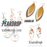 Teardrop Earring Die - Sizzix Big Shot Compatible - Steel Rule Earring Die