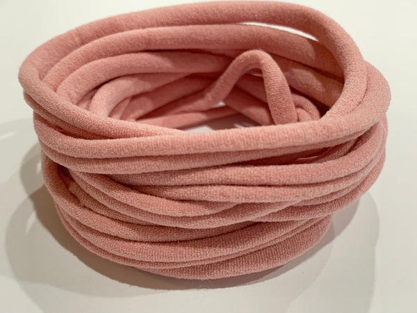 Thin Nylon Elastic Headbands | Dusty Pink | 5-6 mm | 26cm