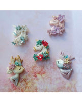 "Rainbow Unicorn Deer ""Enchanted"" Pre Order Bow Clays"