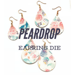 Peardrop Trio Earring Die - Sizzix Big Shot Compatible - Steel Rule Die