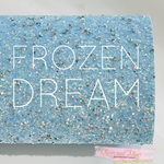 Frozen Dream Pale Blue with Diamonds Chunky Glitter Fabric