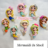 Beautiful Mermaids Bow Clays  - Fantasy Clay Maker Collection - In Stock Now