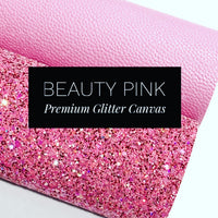 Beauty Pink Multi Colour Chunky Glitter Canvas Sheet