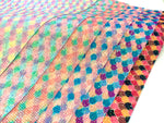 Mermaid Scales Glitter Grid Fabric Sheets