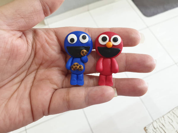 Cookie Monster Elmo Bow Clay Pre Buy Clays
