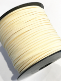 Ivory Suede Cord - 5m - Ivory White Suede Cord
