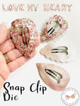 Love Your Hearts Snap Clip Steel Rule Die
