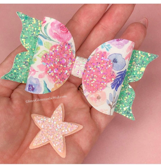 Mermaid Tails Bow Die  Glitter Glitter On The Wall Exclusive PREORDER APRIL
