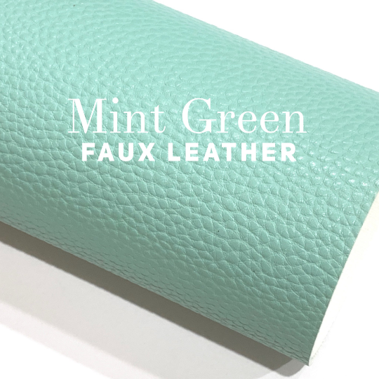 Mint Green Faux Leather Sheet
