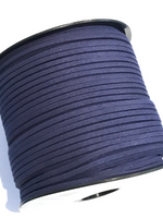 Navy Faux Suede Cord - 5m - Navy Blue Suede Cord