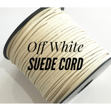 Off White Suede Cord - 5m - Off White Suede Cord