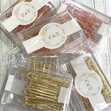 70 x Rose Gold Paper Clips 50mm