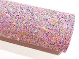 Popping Candy Multicolour Chunky Glitter Fabric - A5 A4 Sheet