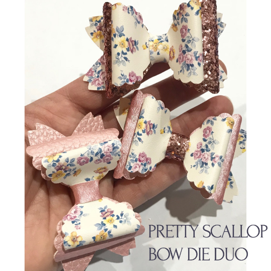 Pretty Scallop Bow Die - Scalloped Edged Steel Rule Sizzix Bow Die
