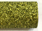 Matte Green Chunky Glitter Fabric Sheet