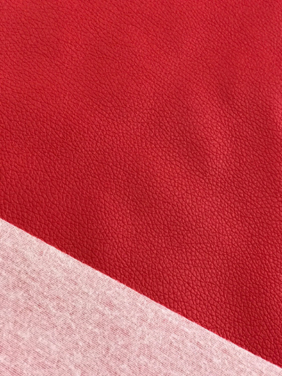 Red Leatherette Sheet Thin 0.7mm A4 8X11, A5 Size Red Faux Leather Fabric Small Lychee Pattern PU Leather Thin Leatherette
