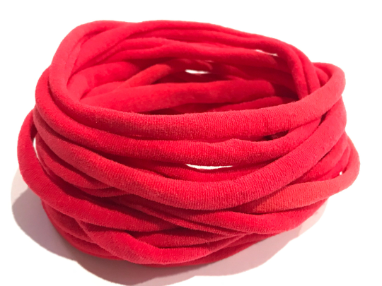 Thin Nylon Elastic Headbands RED | 5-6 mm | 26cm