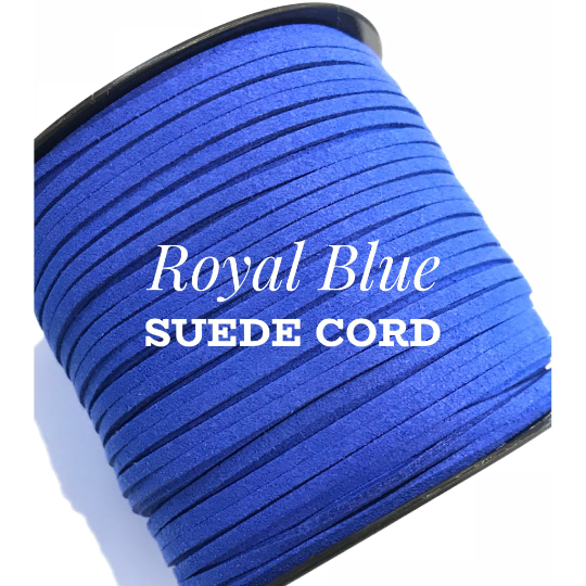 Royal Blue Suede Cord - 5m - Bright Blue Suede Cord