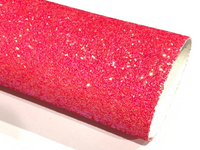 Shocking Pink Chunky Glitter Sheet