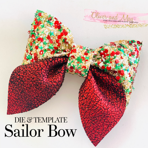 "The Sailor Bow 3.5"" - Die and Template"