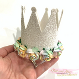 "3.5"" Tall Birthday Crown Trace and Cut Plastic Template"