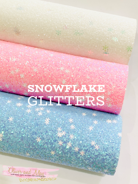 Snowflake Christmas Chunky Glitters -  Choice of three colours