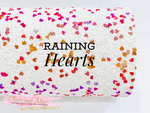 Raining Hearts Premium Chunky Glitter Canvas - Hot Pink, Violet and Orange Gold