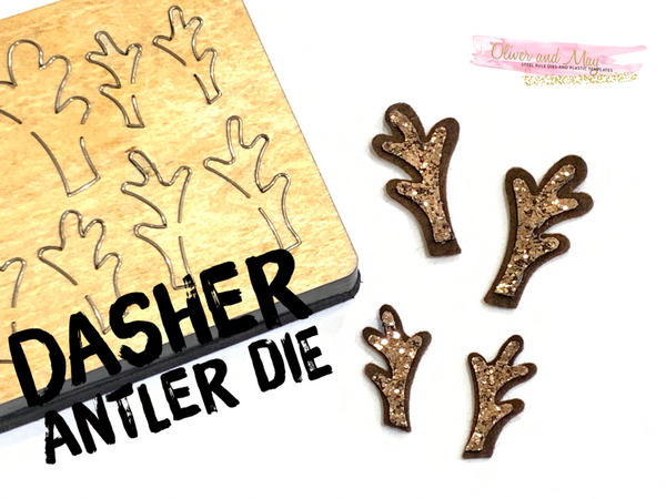 Dasher Antler Steel Rule Die OR Trace and Cut Plastic Template