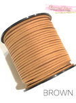 Brown Faux Suede Cord - 5m
