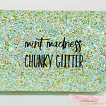 Mint Madness Chunky Glitter Canvas Fabric