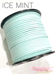 Ice Mint Faux Suede Cord - 5m - Pastel Blue Suede Cord