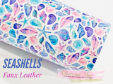 Seashells Faux Leather Fabric Sheets