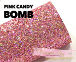 Pink Candy Bomb Chunky Glitter Fabric