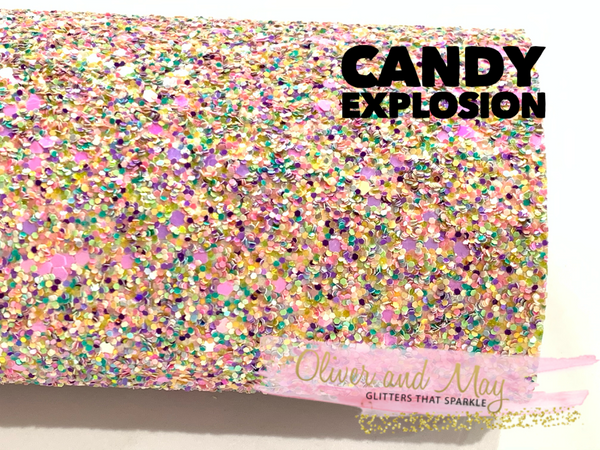 Candy Explosion Chunky Glitter Fabric