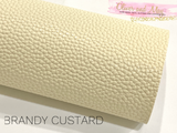 Brandy Custard Faux Leather Sheet