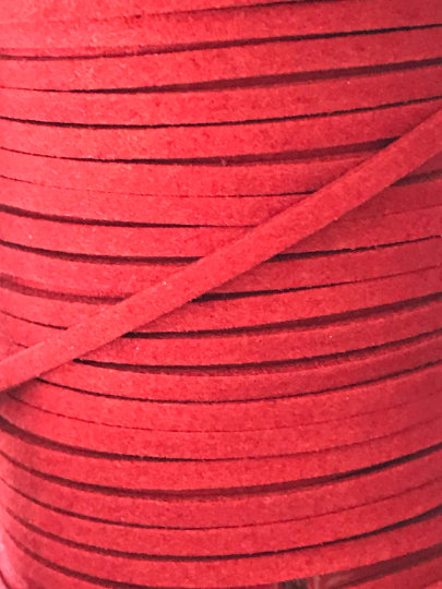 Watermelon Suede Cord - 5m - Watermelon Red Suede Cord