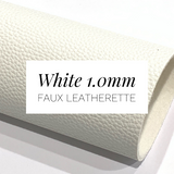 White Leatherette Sheet 1.0mm Thickness A4 or A5 Size Faux Leather Fabric White Leather Crisp White