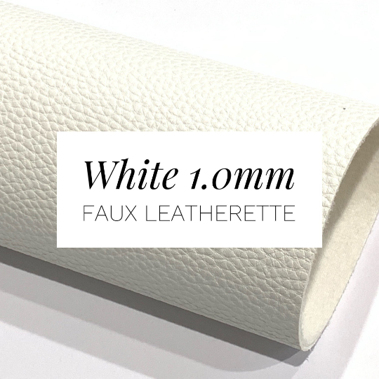 White 1.0mm Thick Textured Leatherette Sheet