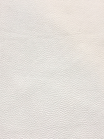 White Leatherette Sheet 1.2mm Thick Textured  - Crisp White