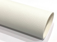 White 1.2mm Thick Textured Leatherette Sheet