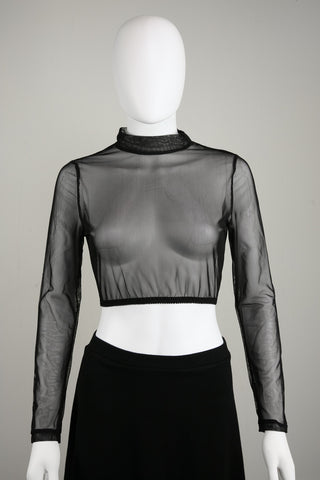 Mason Black Mesh Top - Curve