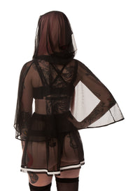 Little Black Riding Hood Mesh Capelet - Top - Agashi Shop - Agashi by Christina O