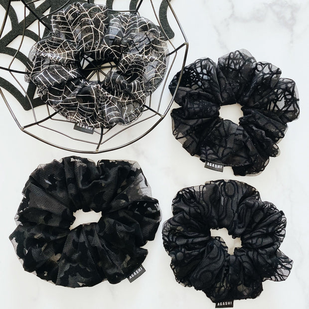 DIY Kit or Made to Order Spiderweb Scrunchies - Agashi Shop
