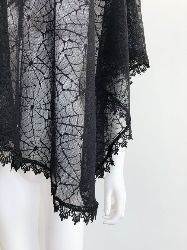Good Mourning Spiderweb Lace Veil - Agashi Shop