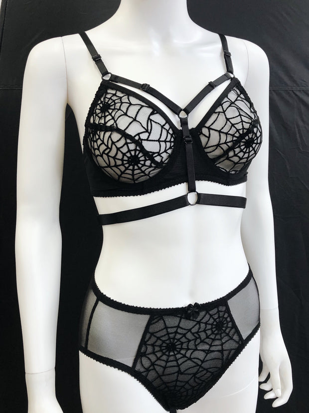 Ready to Ship - Mayday Spiderweb Thong, Bikini and Brief Set