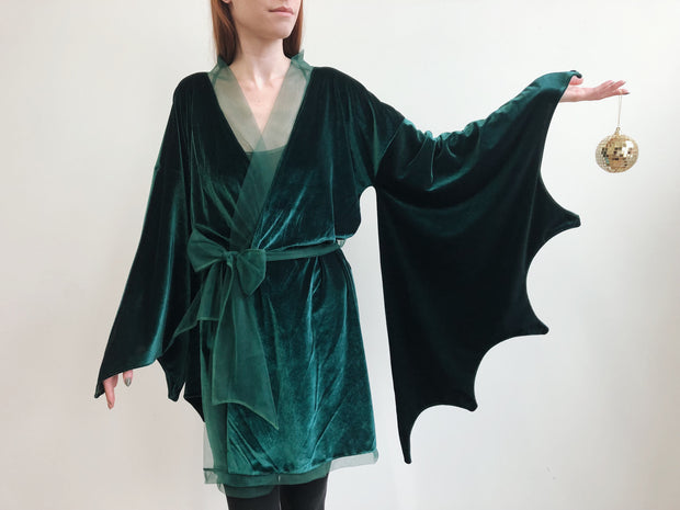 Velvet Bat Wing Kimono - Dress - Agashi Shop - Agashi by Christina O